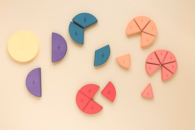 Colourful statistical pie charts for science fractions