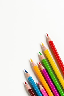 Colourful wooden pencils