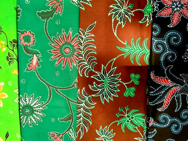 Colours of indonesian batik