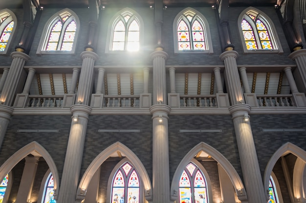 Columns and arches of a church