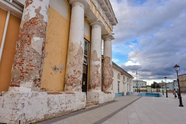 Columns of church in the city of kolomna
