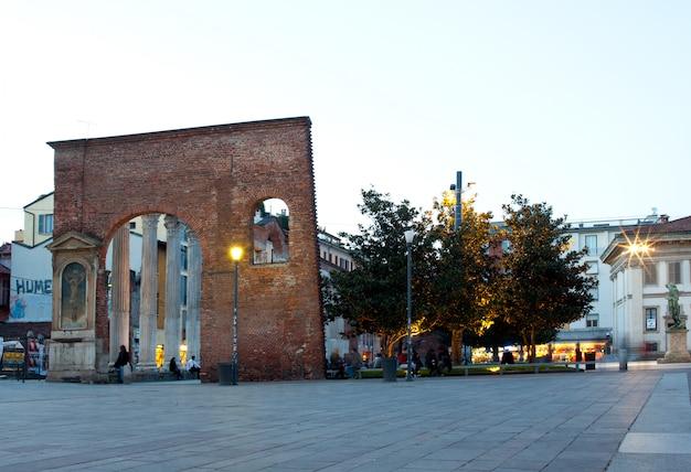 Columns of san lorenzo in milan, italy