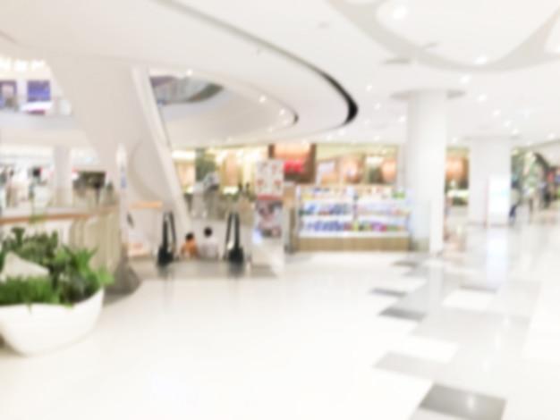 Колонны торговый центр расфокусированное