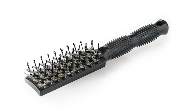 Comb brush isolated on white
