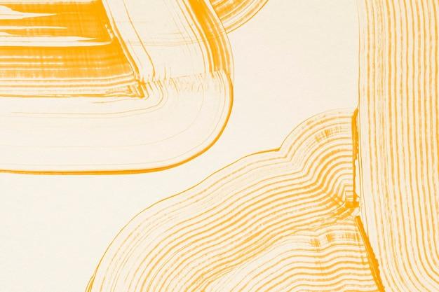 Pettine dipinto sfondo strutturato in acrilico giallo fatto a mano con motivo rastrellato arte astratta