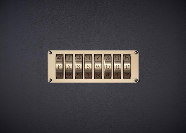 Combination lock. password word.