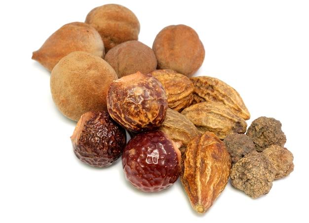 Combinations of herbal medicinal fruits have medicine properties.
