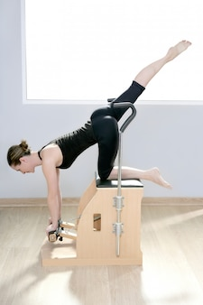 Combo wunda pilates chair woman fitness yoga gym