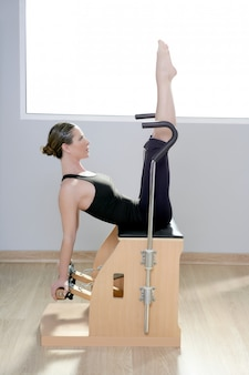 Combo wunda pilates chair woman fitness yoga gym