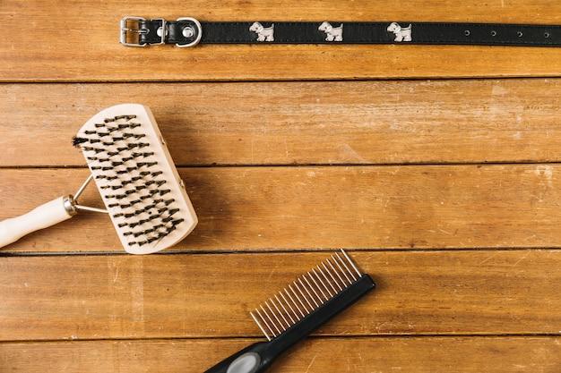 Combs near dog collar