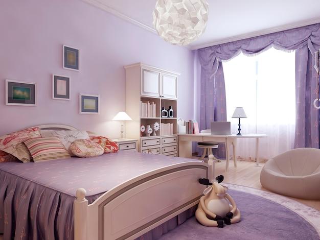 Comfort bedroom for teenager girl.