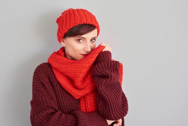 冬の快適な服