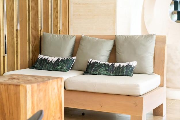 Comfortable pillows on sofa