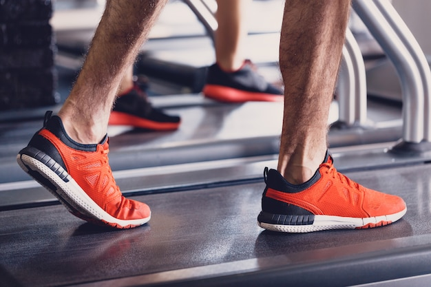 Comfortable sports shoes for running in the gym