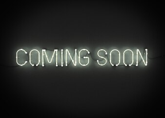 COMING SOON neon sign on dark background 3d rendering