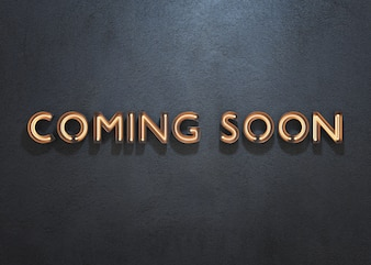 COMING SOON neon sign on dark background