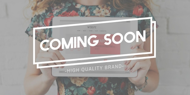 Coming soon new recent innovation modern concept