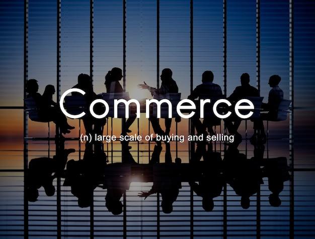 Commercio di consumismo di commercio che vende concetto al minuto di vendita