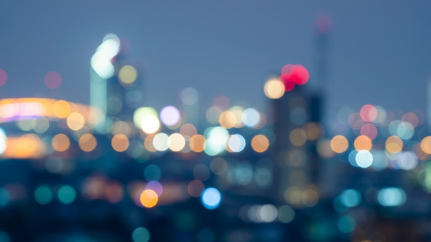 Commercial building bokeh blurred background