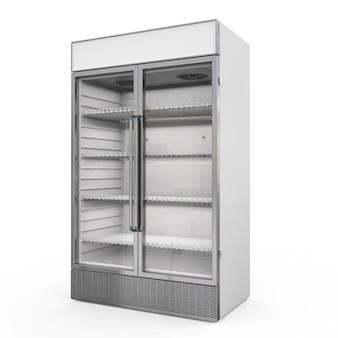 투명한 유리문이 있는 상업용 냉장고