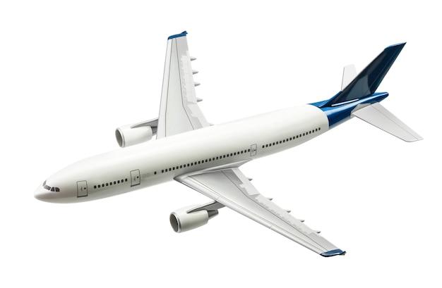 クリッピングパスで白に分離された商用飛行機
