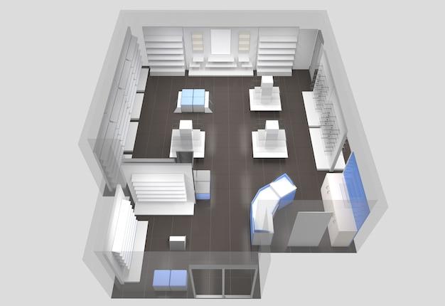 Торговое помещение, магазин, визуализация интерьера