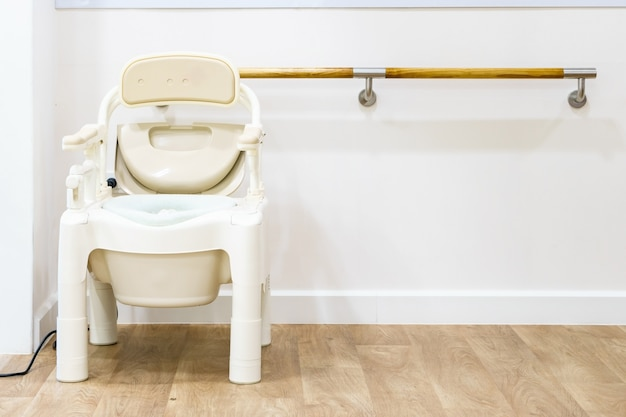 Commode chairs and portable toilets for elderly