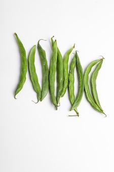Common bean or dolichos bean pods, farm fresh concept