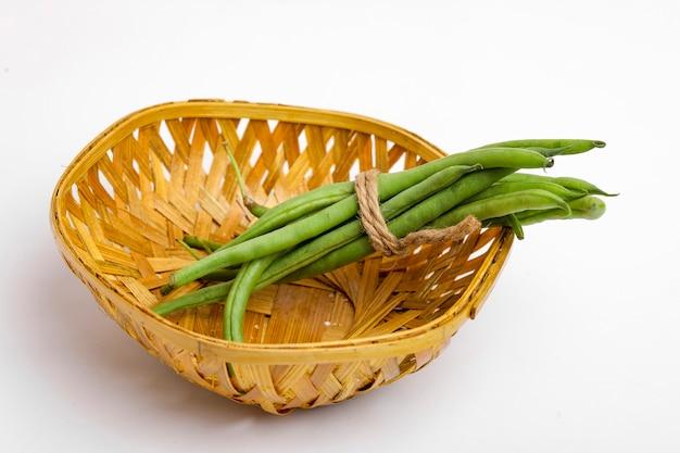 Common bean or dolichos bean pods,