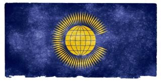 Commonwealth of nations grunge flag  page