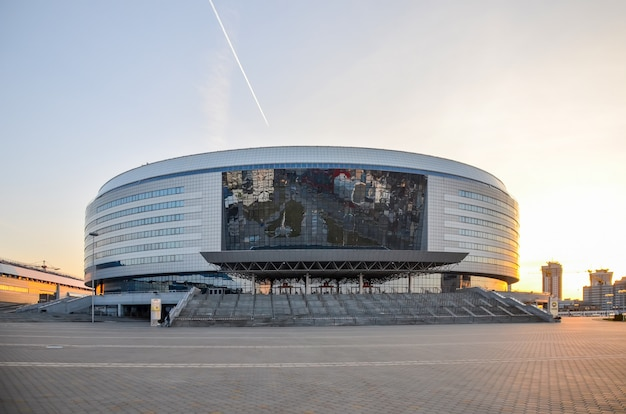Communal services have prepared the minsk-arena sports complex for competitions.