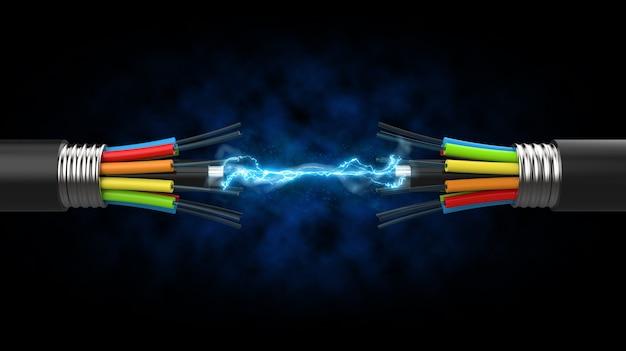 두 광섬유 간의 통신