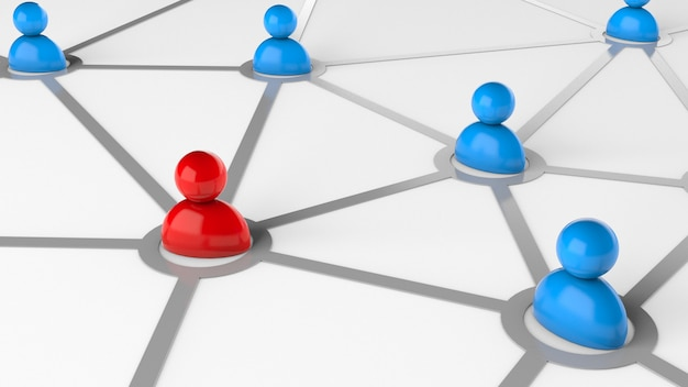 Communication between people concept for business communication or special person in the network