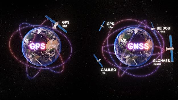 Gpsシステムとgnssシステム衛星ナビゲーションシステム間の通信技術