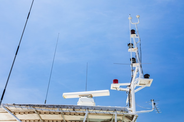 Communication tools on coastal surveillance ships.