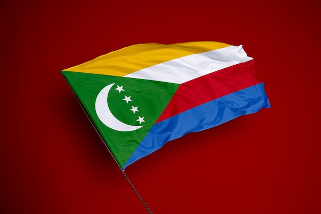 Comoros flag on the background
