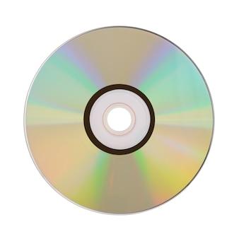 白い背景で隔離のコンパクトディスク。クリッピングパス付き。