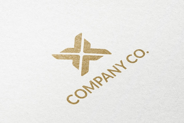 Company co. business logo in gold emboss