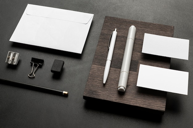 Company identity cards and office desk accessories