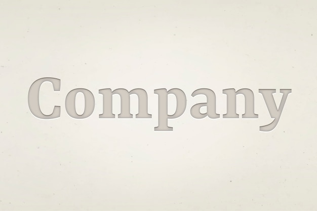デボステキストスタイルの会社の単語