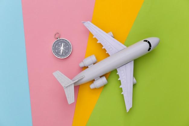 나침반과 비행기