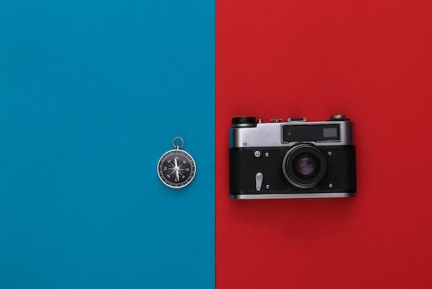 빨강-파랑에 나침반과 카메라