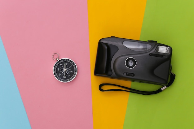 Compass and camera
