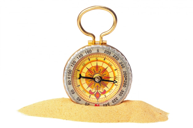 Compass isolated. tool for travel, tourism,science