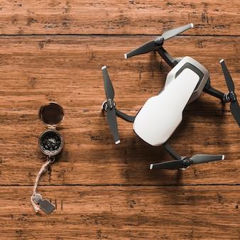 Compass lying near drone