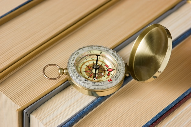 Compass and the old books