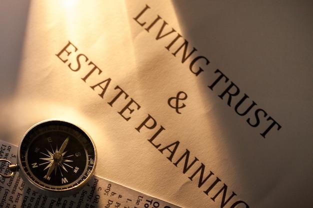 生活信託と不動産計画文書のコンパス