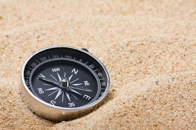 熱い砂の上をコンパスします。