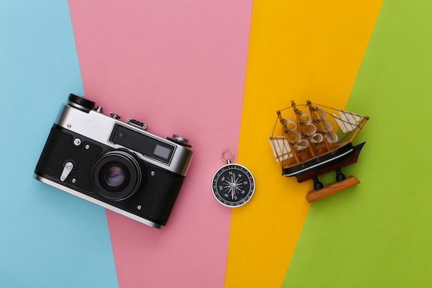 Compass, ship and camera