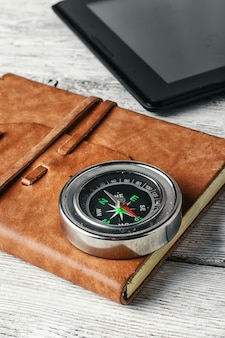 Compass and tablet